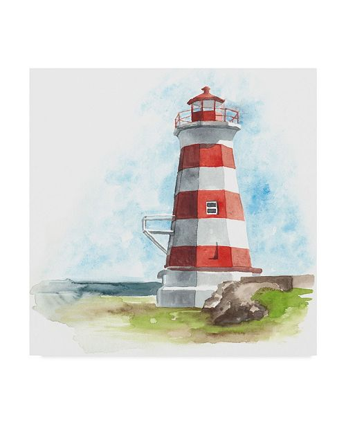"Trademark Global Naomi Mccavitt Watercolor Lighthouse I Canvas Art - 15"" x 20"""