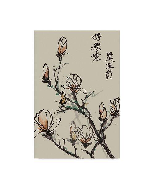 "Trademark Global Melissa Wang Mandarin Magnolia I Canvas Art - 20"" x 25"""