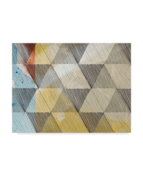 "Trademark Global Sisa Jasper Geo Now Sketch I Canvas Art - 20"" x 25"""