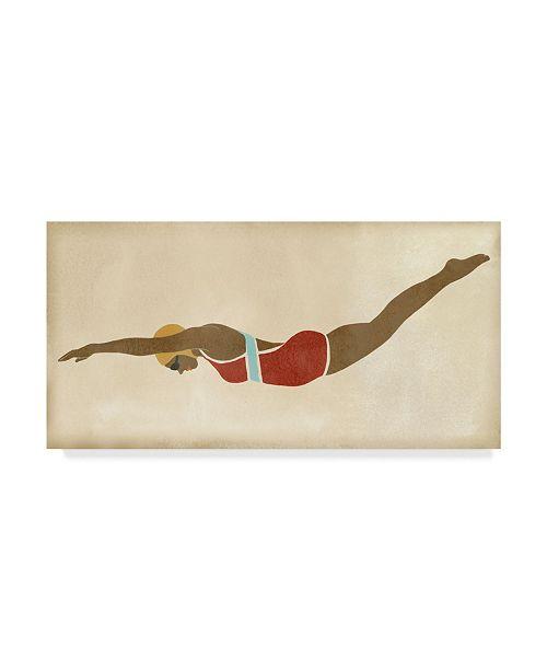 """Trademark Global June Erica Vess Vintage Diver II Canvas Art - 15"""" x 20"""""""