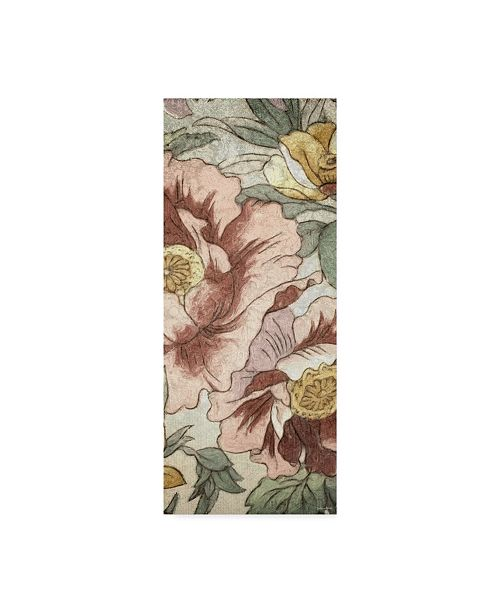 "Trademark Global Catherine Kohnke Earth Tone Floral Panel I Canvas Art - 37"" x 49"""