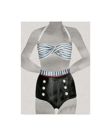 """Grace Popp Vintage Bathing Suit I Canvas Art - 15"""" x 20"""""""