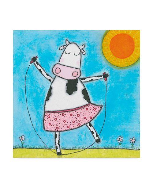 "Trademark Global Tatijana Lawrence Super Animal Cow Canvas Art - 20"" x 25"""