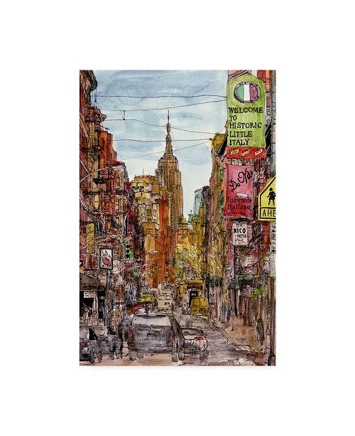 """Trademark Global Melissa Wang City Scene II Canvas Art - 15"""" x 20"""""""