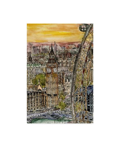 "Trademark Global Melissa Wang City Scene IV Canvas Art - 20"" x 25"""