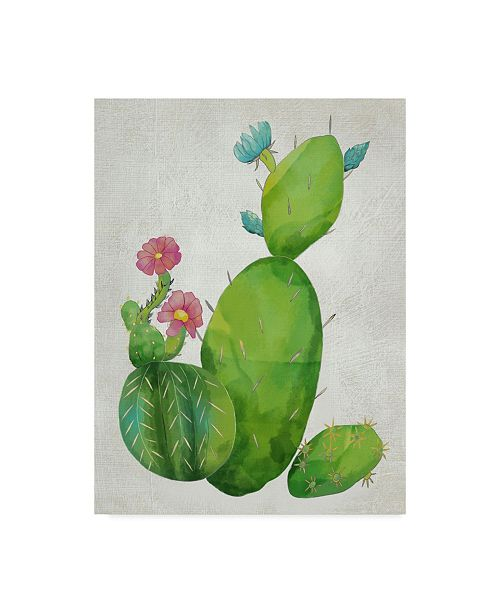 "Trademark Global Chariklia Zarris Cacti Collection I Canvas Art - 20"" x 25"""