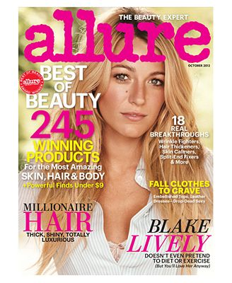 Receive a bonus one year subscription to Allure Magazine with any $75 beauty purchase