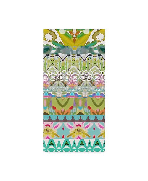 "Trademark Global Karen Fields Border Boho II Canvas Art - 15"" x 20"""