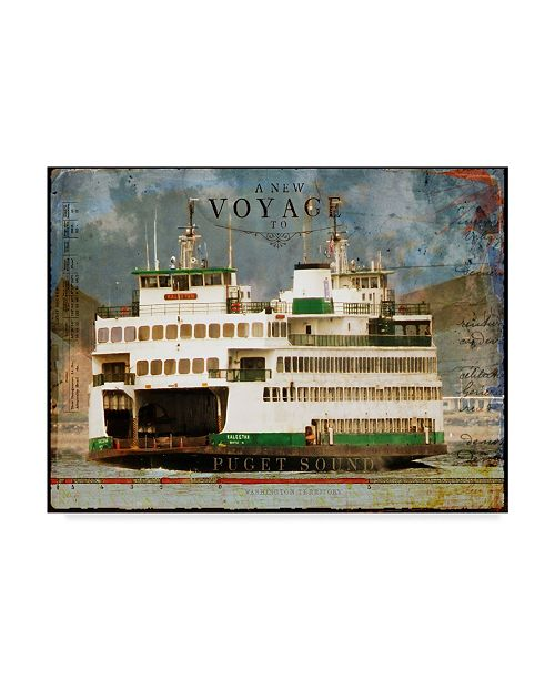 "Trademark Global Sandy Lloyd Voyage to Puget Sound Canvas Art - 15"" x 20"""