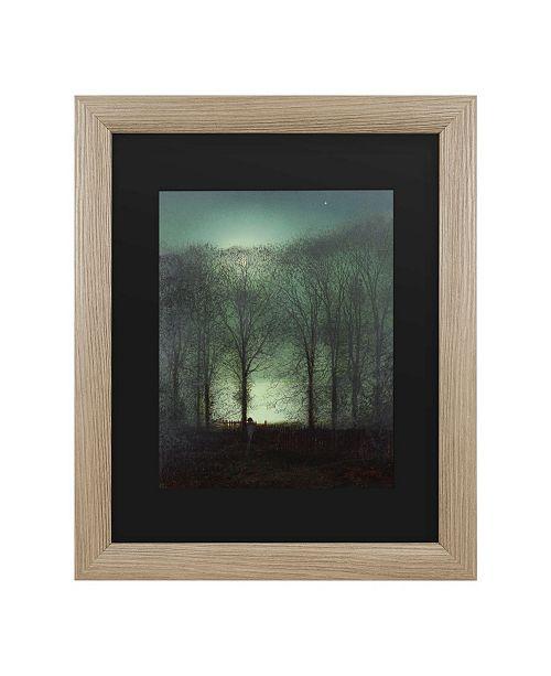 "Trademark Global John Grimshaw Figure in the Moonlight Matted Framed Art - 27"" x 33"""