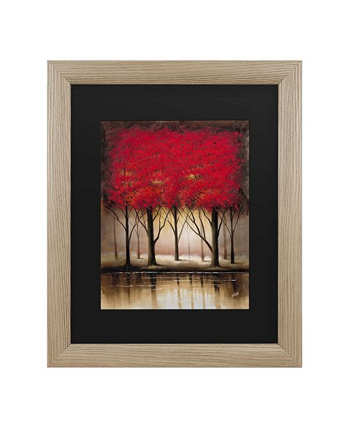 "Trademark Global Masters Fine Art Serenade in Red Matted Framed Art - 27"" x 33"""