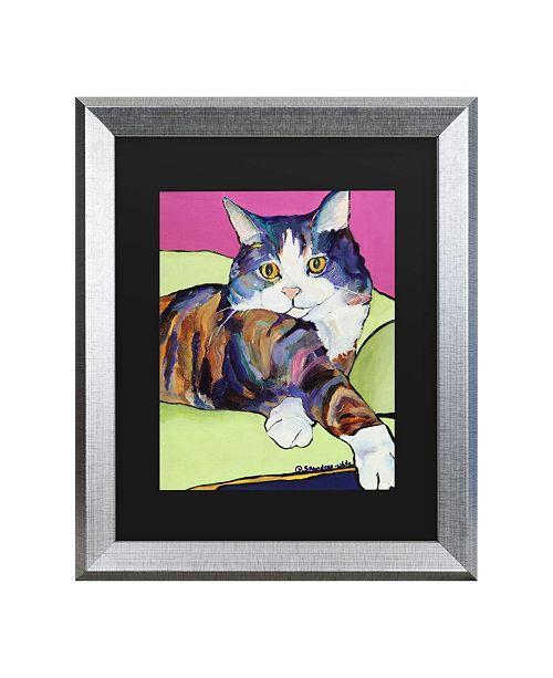 "Trademark Global Pat Saunders-White Ursula Matted Framed Art - 20"" x 25"""