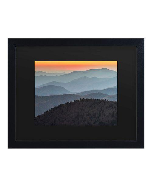 "Trademark Global Pierre Leclerc Great Smoky Sunset Matted Framed Art - 15"" x 20"""