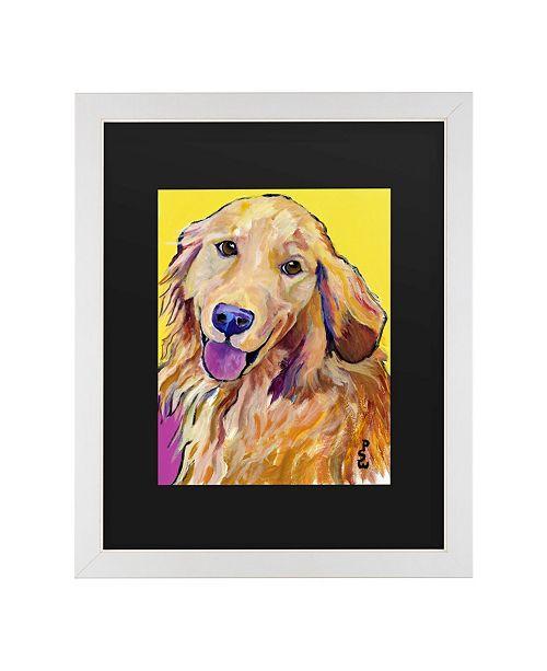 "Trademark Global Pat Saunders-White Molly Matted Framed Art - 20"" x 25"""