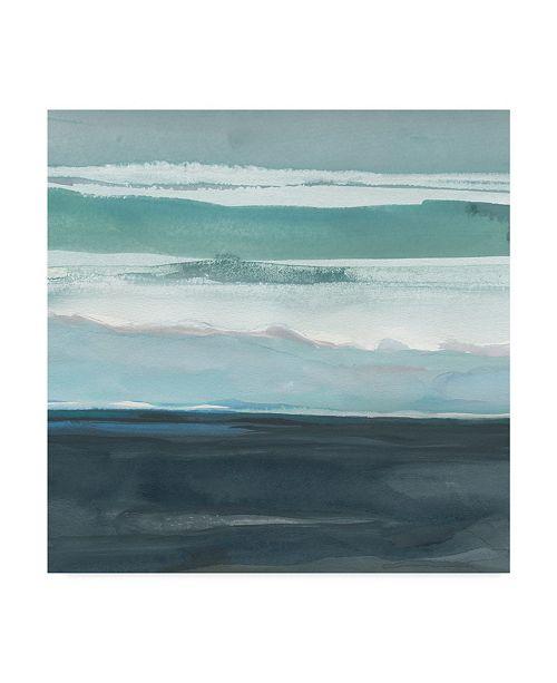 "Trademark Global Rob Delamater Teal Sea I Canvas Art - 27"" x 33"""