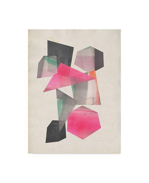 "Trademark Global Jennifer Goldberger Collaged Shapes I Canvas Art - 37"" x 49"""