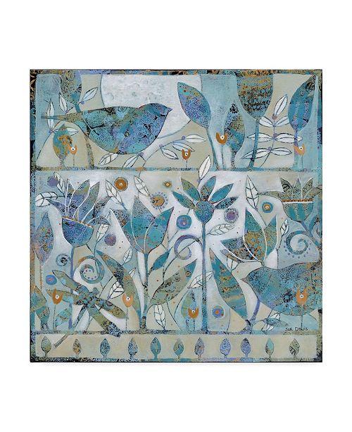 """Trademark Global Sue Davis Spring Garden Abstract Modern Canvas Art - 15"""" x 20"""""""