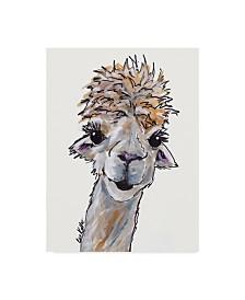 """Hippie Hound Studios Alpaca Angel Canvas Art - 37"""" x 49"""""""
