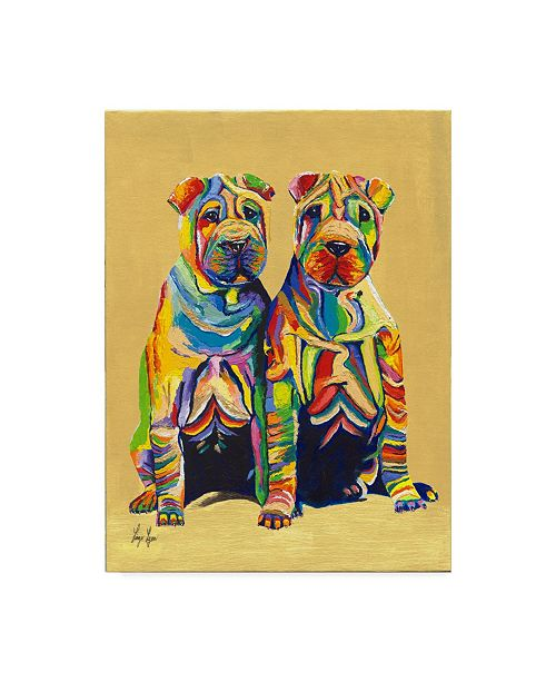 "Trademark Global Linzi Lynn Pups Canvas Art - 20"" x 25"""