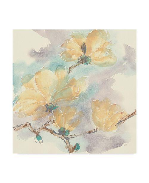 "Trademark Global Chris Paschke Magnolias in White II Canvas Art - 15"" x 20"""