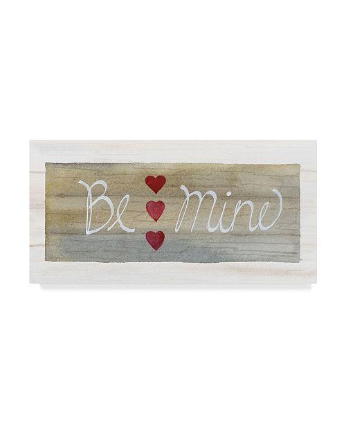 """Trademark Global Kathleen Parr Mckenna Rustic Valentine be Mine Canvas Art - 37"""" x 49"""""""