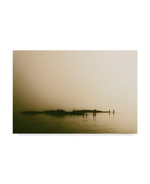 """Trademark Global Pixie Pics Coastal Foggy Landscape Canvas Art - 37"""" x 49"""""""