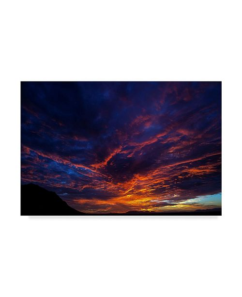 """Trademark Global Pixie Pics Red Clouds Under Hills I Canvas Art - 37"""" x 49"""""""