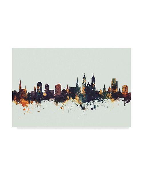 "Trademark Global Michael Tompsett St Gallen Switzerland Skyline IV Canvas Art - 37"" x 49"""