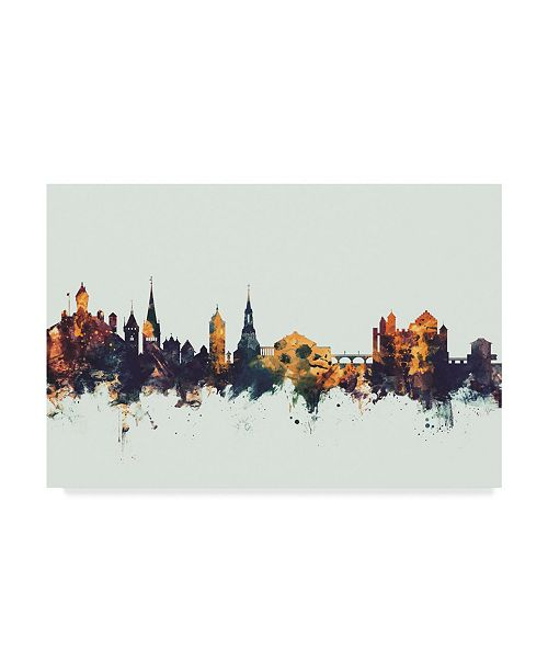 "Trademark Global Michael Tompsett Schaffhausen Switzerland Skyline IV Canvas Art - 37"" x 49"""