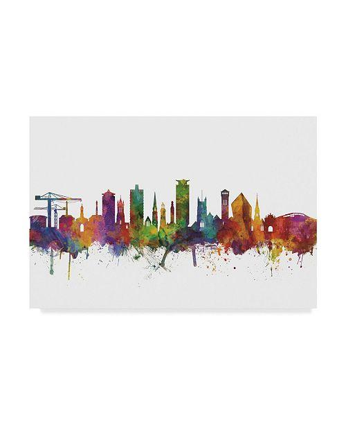 "Trademark Global Michael Tompsett Plymouth England Skyline II Canvas Art - 15"" x 20"""