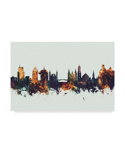"Trademark Global Michael Tompsett Ljubljana Slovenia Skyline IV Canvas Art - 37"" x 49"""