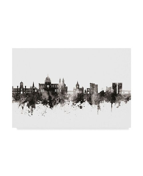"Trademark Global Michael Tompsett Galway Ireland Skyline Black White Canvas Art - 20"" x 25"""