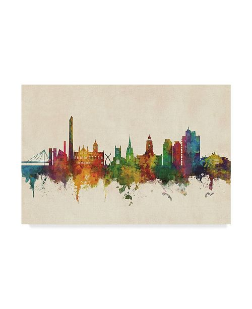 "Trademark Global Michael Tompsett Northampton England Skyline Canvas Art - 20"" x 25"""