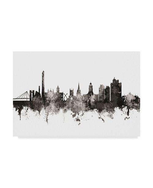 "Trademark Global Michael Tompsett Northampton England Skyline Black White Canvas Art - 37"" x 49"""
