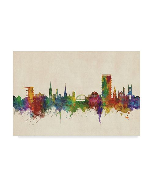 "Trademark Global Michael Tompsett Cheltenham England Skyline Canvas Art - 37"" x 49"""