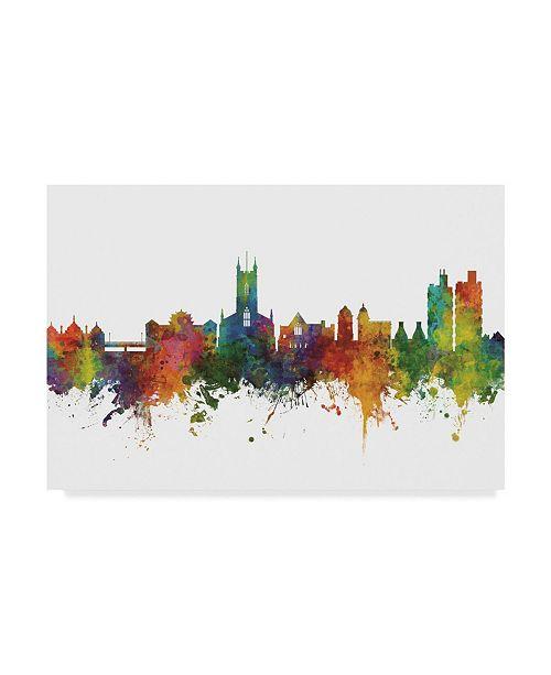 "Trademark Global Michael Tompsett Stoke-On-Trent England Skyline II Canvas Art - 37"" x 49"""