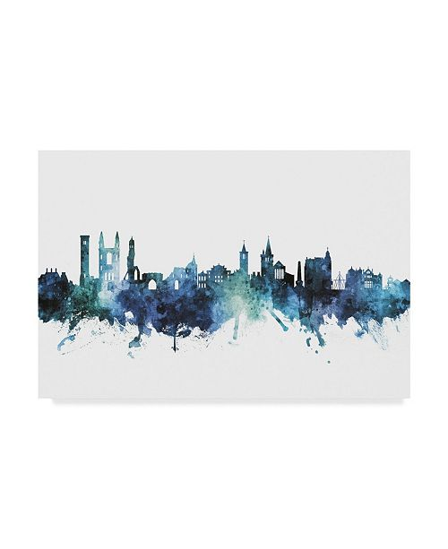 "Trademark Global Michael Tompsett St Andrews Scotland Skyline Blue Canvas Art - 37"" x 49"""