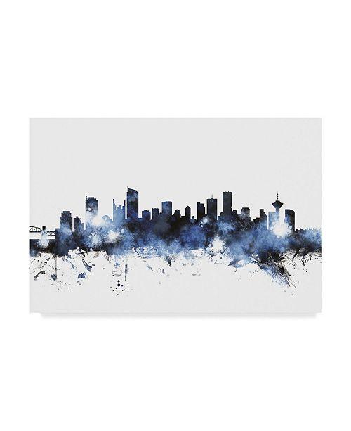 "Trademark Global Michael Tompsett Vancouver Canada Skyline II Canvas Art - 15"" x 20"""