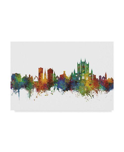 "Trademark Global Michael Tompsett Lincoln England Skyline II Canvas Art - 20"" x 25"""