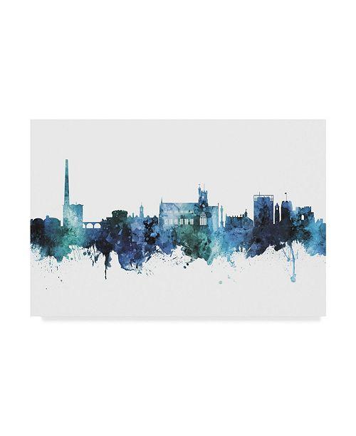 "Trademark Global Michael Tompsett Carlisle England Skyline Blue Canvas Art - 20"" x 25"""
