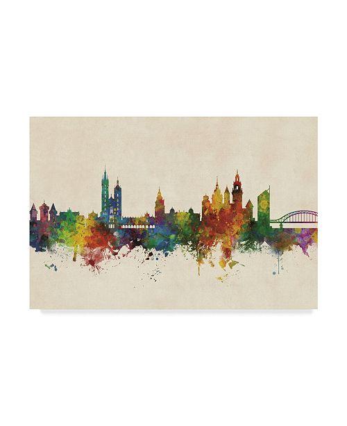 "Trademark Global Michael Tompsett Krakow Poland Skyline Canvas Art - 37"" x 49"""