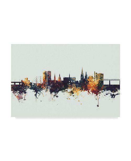 "Trademark Global Michael Tompsett Dundee Scotland Skyline IV Canvas Art - 20"" x 25"""