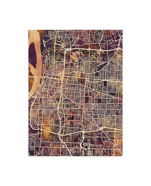"""Trademark Global Michael Tompsett Memphis Tennessee City Map II Canvas Art - 37"""" x 49"""""""