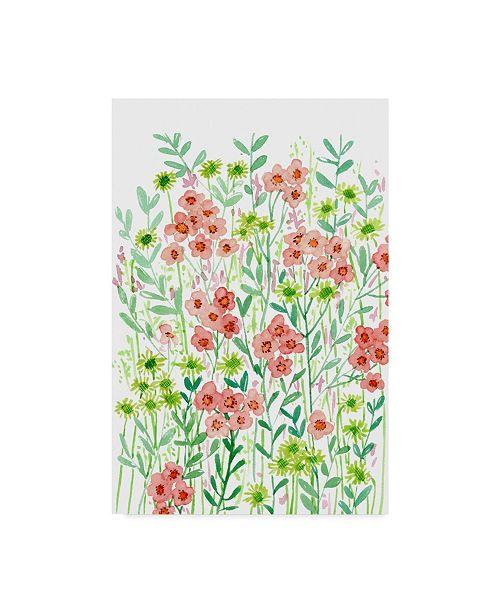 "Trademark Global Melissa Wang Wall Flowers I Canvas Art - 20"" x 25"""