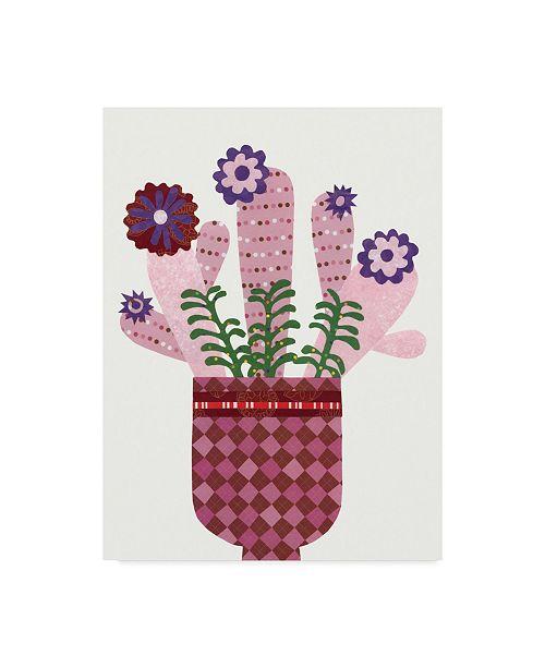 "Trademark Global Regina Moore Cheerful Succulent III Canvas Art - 20"" x 25"""