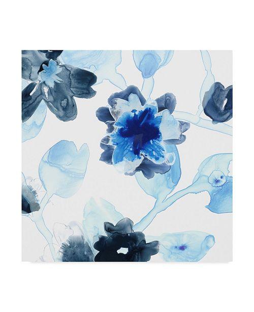 """Trademark Global June Erica Vess Blue Gossamer Garden I Canvas Art - 20"""" x 25"""""""