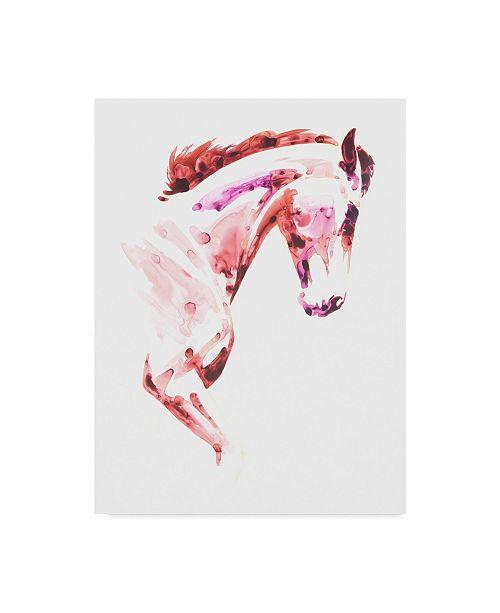 """Trademark Global Julie T. Chapman Garnet Horse I Canvas Art - 20"""" x 25"""""""