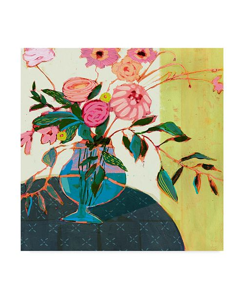 "Trademark Global Victoria Borges Fanciful Flowers I Canvas Art - 15"" x 20"""
