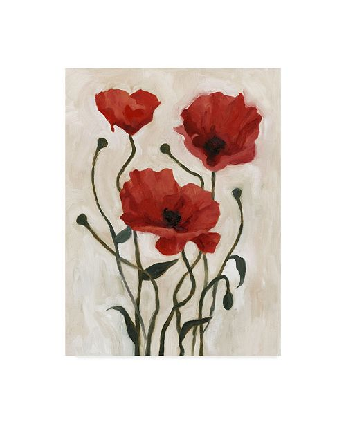 "Trademark Global Emma Scarvey Poppy Bouquet I Canvas Art - 20"" x 25"""