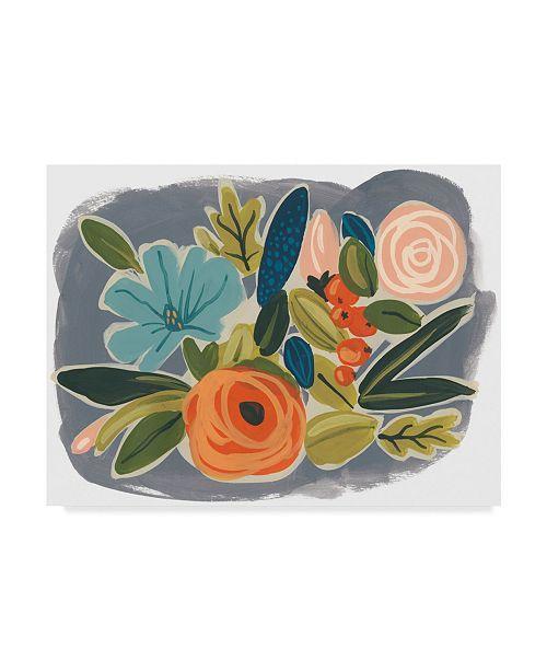 "Trademark Global June Erica Vess Bright Botany I Canvas Art - 37"" x 49"""